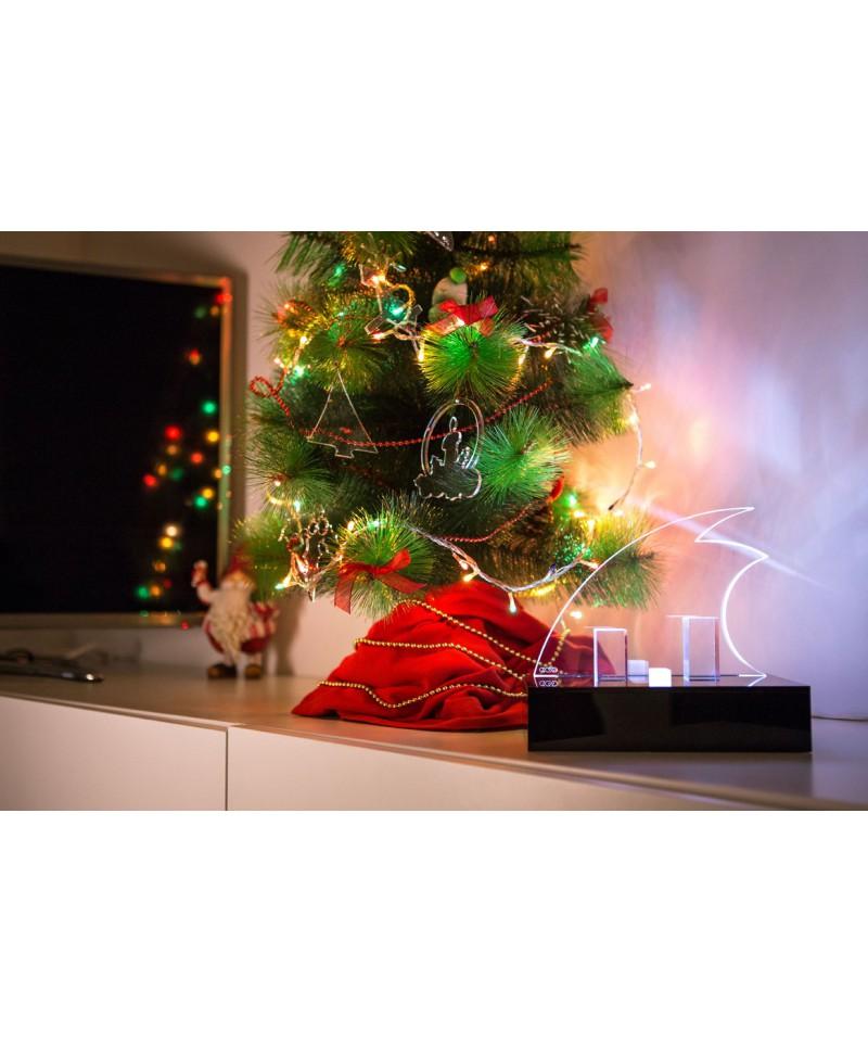 Decorazioni di natale presepe moderno in plexiglass - Decorazioni natalizie moderne ...