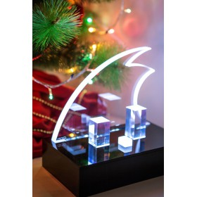 Clear acrylic Christmas decorations - 6pz.