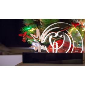Presepe moderno Verona in plexiglass trasparente illuminato a led