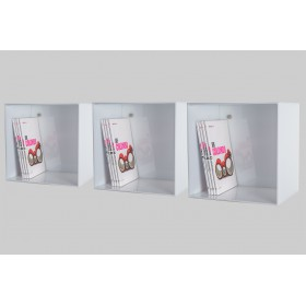 N°3 Acrylic wall cube shelves 30x30x20