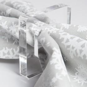 Fermatovaglioli da tavola Mies in plexiglass trasparente