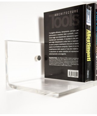 Clear acrylic shelve 75x20