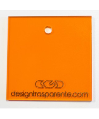 Lastra plexiglass arancione trasparente