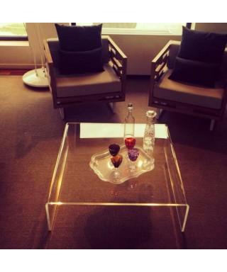 Acrylic coffee table cm 90x90 lucyte clear side table plexiglass