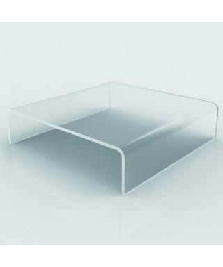 Acrylic coffee table cm 90x40 lucyte clear side table plexiglass