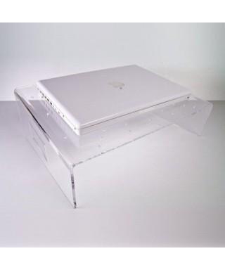 Servilio supporto per portatile in plexiglass trasparente porta pc