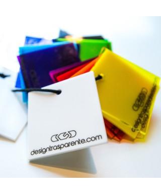 Plexiglass trasparente e colorato Riferimento colori ACRIDITE Campionatura colori