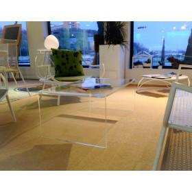Acrylic coffee table cm 90x70 lucyte clear side table plexiglass