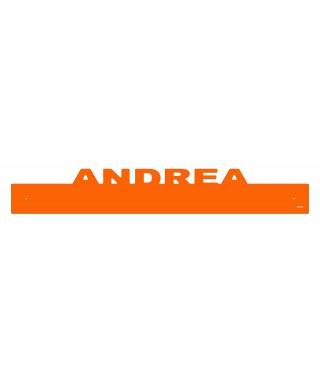 Paracolpi Andrea battisedia personalizzato in plexiglass colorato