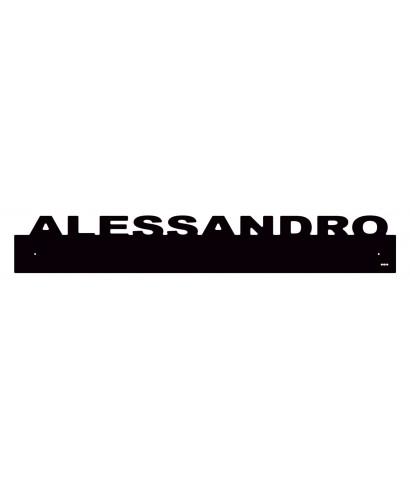 Paracolpi Alessandro battisedia personalizzato in plexiglass colorato