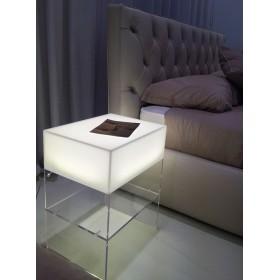 Wall acrylic lighted bedside