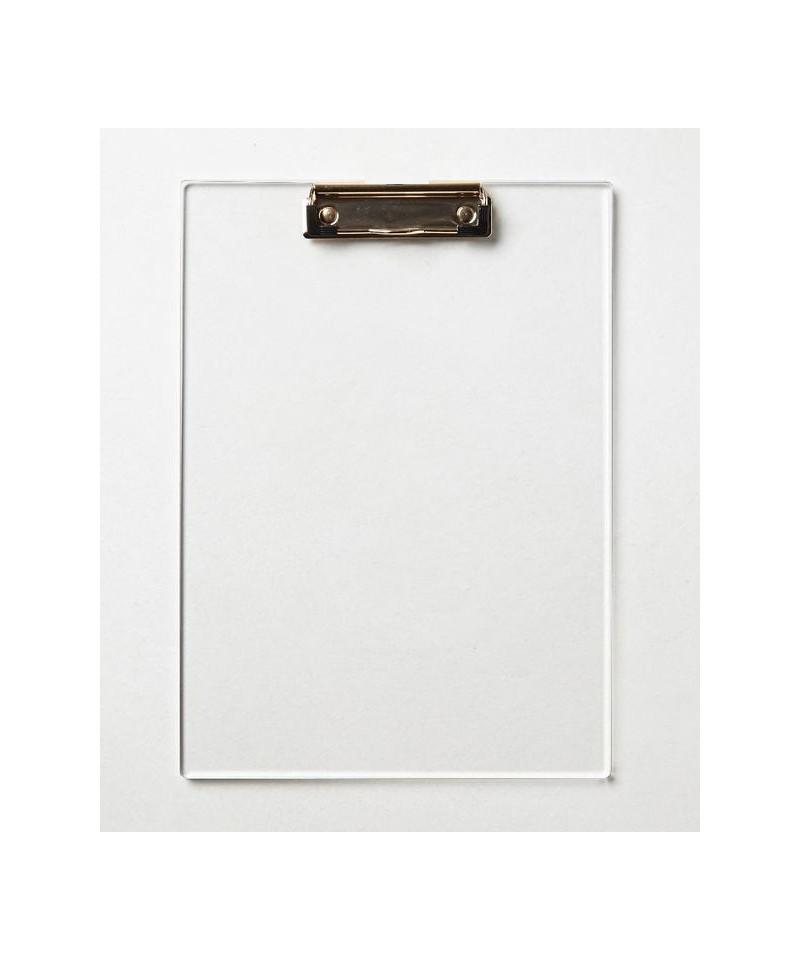 Cartellina portablocco A4 in plexiglas colorato trasparente