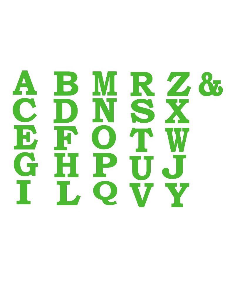 Alfabeto da parete 10x10