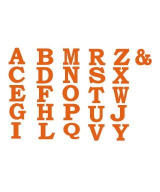 Wall acrylic alphabet