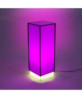 Lampara de escritorio violeta o mesita de noche de metacrilato