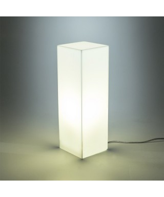 Acrylic violet desk lamp or colored nightstand
