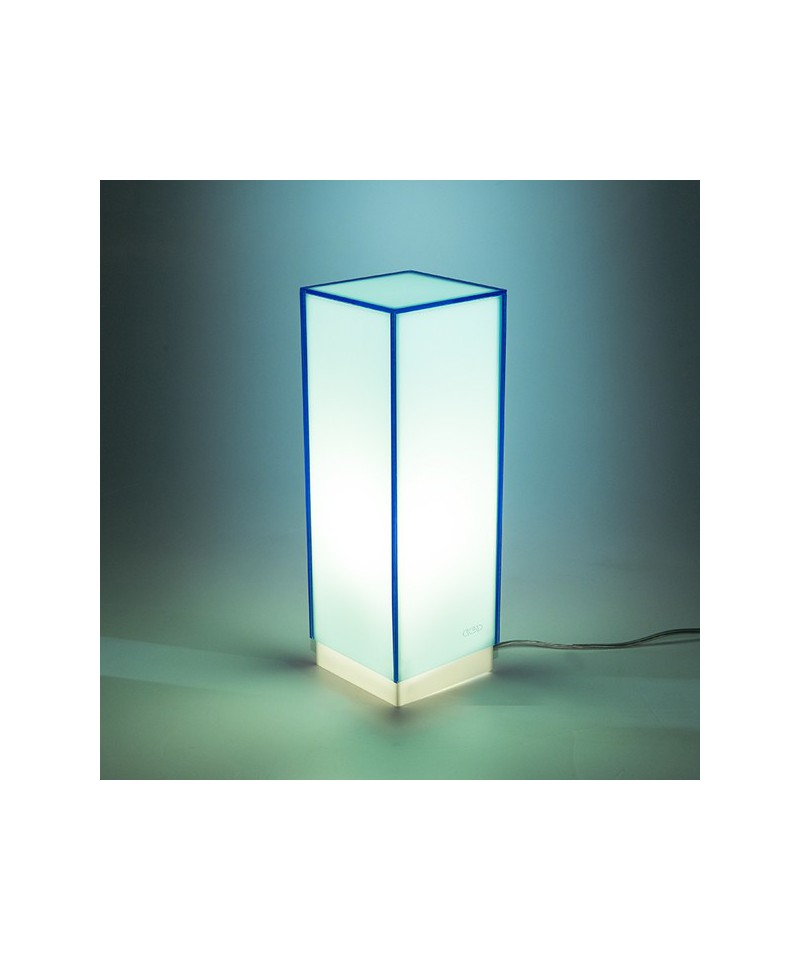 Lampara de escritorio azul claro o mesita de noche de metacrilato