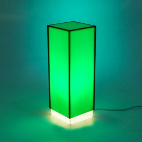 Acrylic green desk lamp or colored nightstand