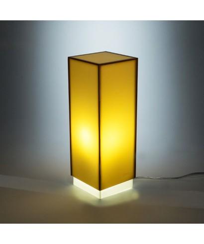 Condom bronzo lampada da tavolo e comodino in plexiglass colorato