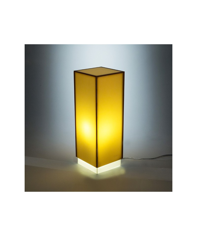 Acrylic bronzed desk lamp or colored nightstand