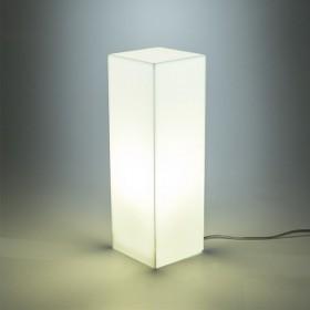 Condom gialla lampada da tavolo e comodino in plexiglass colorato