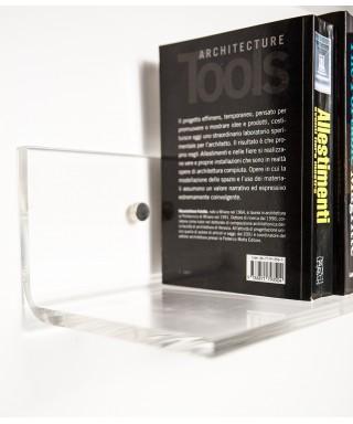 Mensola 80x20 in plexiglass trasparente alto spessore