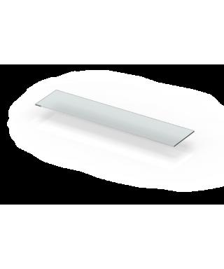 Mensola dritta cm 35 ripiano in plexiglass trasparente bordo lucido