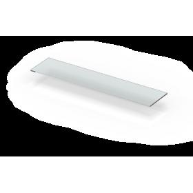 Estante de pared cm 35 de metacrilato transparente con borde brillante