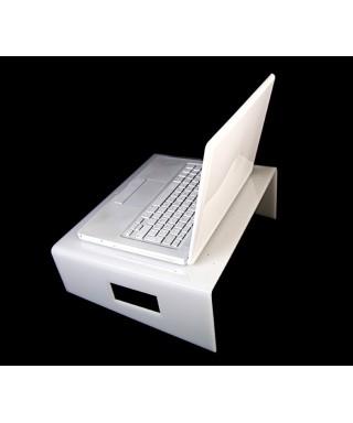 Servilio supporto per portatile in plexiglass bianco