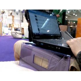 Servilio supporto per portatile in plexiglass bianco porta pc