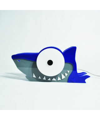 Lampada Shark per bambini in plexiglass colorato