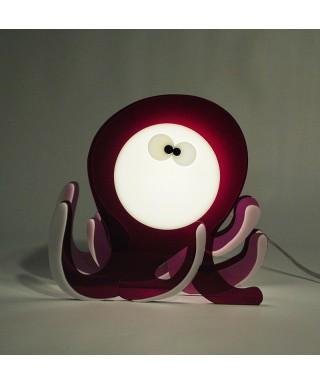 Lampada Octopus per bambini in plexiglass colorato