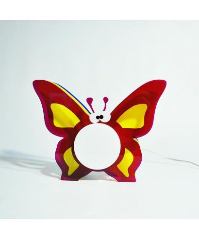 Lampada Butterfly per bambini in plexiglass colorato