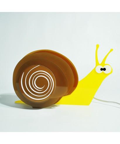 Lampada Snail per bambini in plexiglass colorato