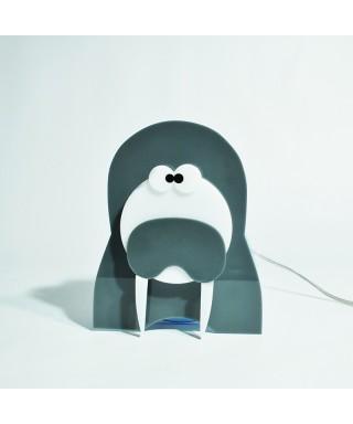 Lampada Walrus per bambini in plexiglass colorato