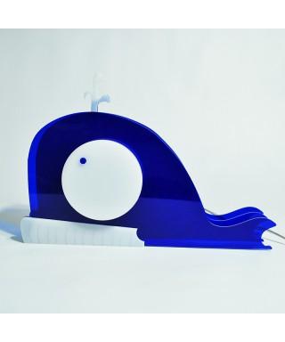 Lampada Whale per bambini in plexiglass colorato