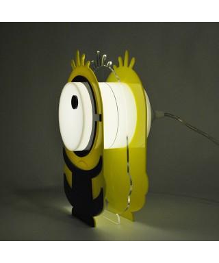 Lampada Minion per bambini in plexiglass colorato