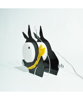 Lampada Pig per bambini in plexiglass colorato