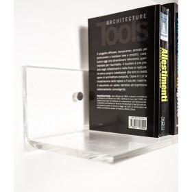 Mensola 35x25 in plexiglass trasparente alto spessore