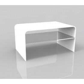 Acrylic side table 75x50 h:40