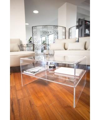 Acrylic side table 75x55 h:40