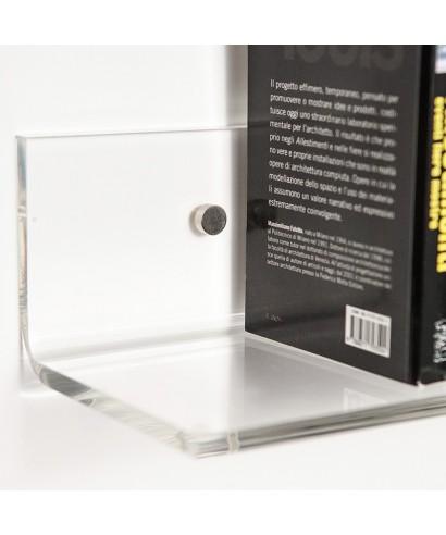 Mensola 80x15 in plexiglass trasparente alto spessore
