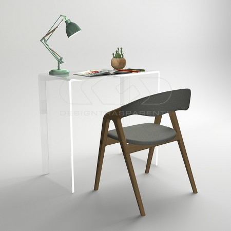Consola escritorio en metacrilato transparente alto espesor.