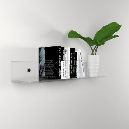 Mensole in plexiglass trasparente alto spessore per libri.