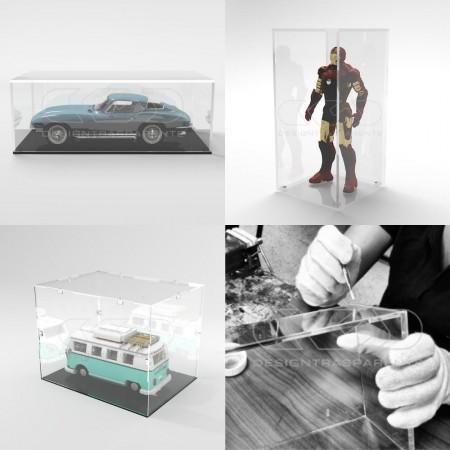 Planchas y pegamento de metacrilato y accesorios para el bricolaje.