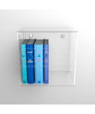 Acrylic wall cube shelves