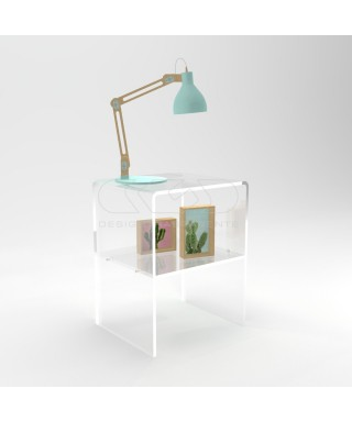 Acrylic bedside tables