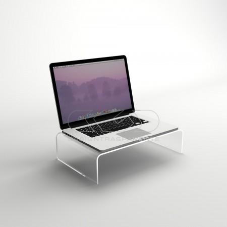 Design plexiglass. Alzate e porta pc trasparenti.