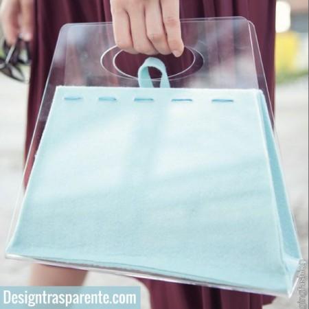 Borsette trasparenti in plexiglass
