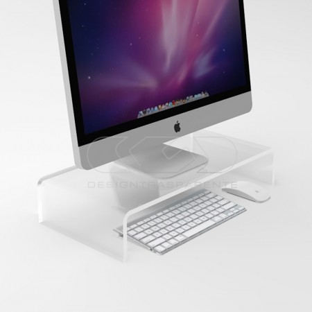 Clear acrylic monitor rise stand.